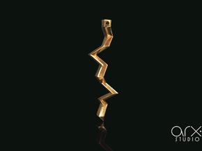 Zeus's Thunderbolt Pendant in 18k Gold Plated
