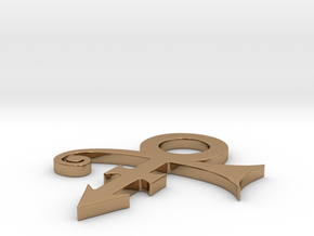 Prince Logo in Polished Brass: Extra Large