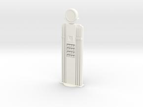 Billiard Cue Stand - Gas Pump Style in White Processed Versatile Plastic
