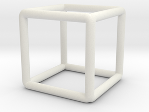 Building Cube Scale 1-200 3,5x3,5x3,5m in White Natural Versatile Plastic: 1:200