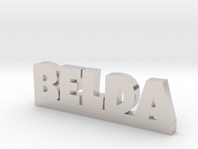BELDA Lucky in Rhodium Plated Brass
