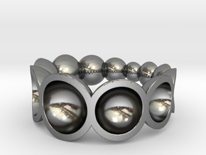 crescendo ring in Polished Silver: 7 / 54