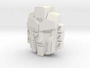 Perceptor, IDW Face (Titans Return) in White Natural Versatile Plastic
