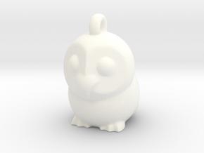 Barn Owl Pendant in White Processed Versatile Plastic