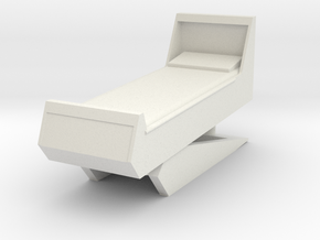 Sickbay Bed (Star Trek Classic), 1/9 in White Natural Versatile Plastic