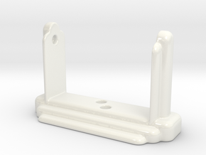 Art Deco Toilet Roll Holder II in Gloss White Porcelain