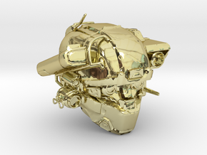 Halo 5 Argus/linda helmet mcfarlane scale in 18k Gold Plated Brass