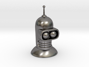 Bender's head in Polished Nickel Steel