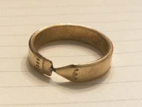 Pencil Ring, Size 10 in Natural Brass