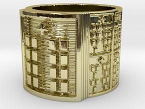 BABA OYEKUN MEYI Ring Size 11-13 in 18k Gold Plated: 12 / 66.5