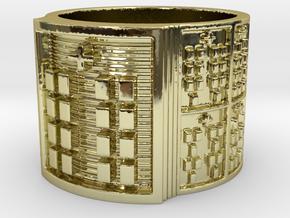 BABA OYEKUN MEYI Ring Size 14 in 18k Gold Plated Brass