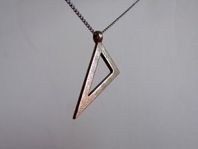 Scalene set square in Polished Bronzed Silver Steel