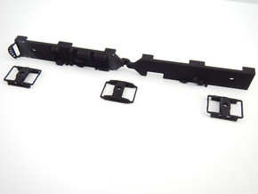 TMERL Duplex 1180 - 1195 Under Frame Trucks in Black Natural Versatile Plastic