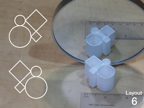 Improved Ambiguous Cylinder Illusion (Layout 6) in White Natural Versatile Plastic