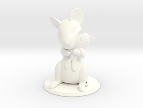 Mouse with Stuffed Cat in White Strong & Flexible Polished
