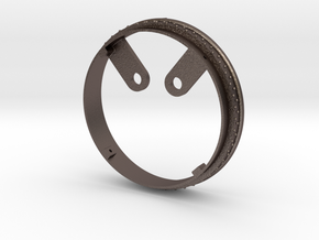 Smokebox Back Ring in Polished Bronzed Silver Steel