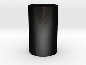 Replica Nuclear Fuel Pellet! in Matte Black Steel: Medium