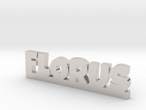 FLORUS Lucky in Rhodium Plated Brass