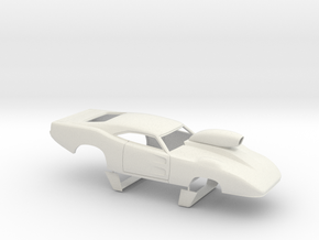 1/24 69 Daytona Pro Mod W Vents W Scoop in White Natural Versatile Plastic
