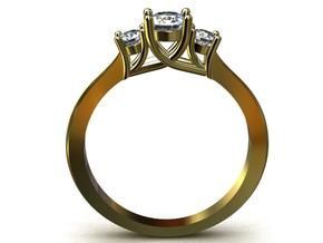 Ccw41 12 Claw Diamond Ring in Smooth Fine Detail Plastic