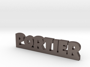 PORTIER Lucky in Polished Bronzed Silver Steel