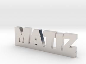 MATIZ Lucky in Rhodium Plated Brass