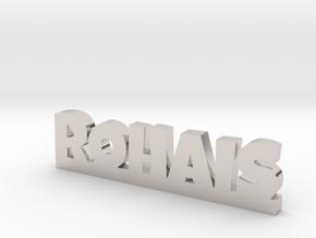 ROHAIS Lucky in Rhodium Plated Brass