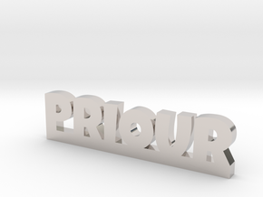 PRIOUR Lucky in Rhodium Plated Brass