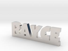 RAYCE Lucky in Rhodium Plated Brass