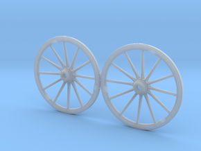 German Limber Wagon Wheel Set 54mm 1/32nd in Frosted Ultra Detail