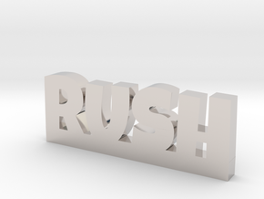 RUSH Lucky in Rhodium Plated Brass