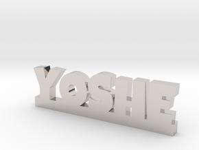 YOSHE Lucky in Rhodium Plated Brass