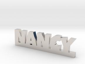 NANCY Lucky in Rhodium Plated Brass