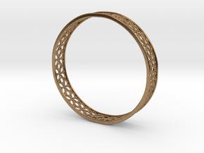 4-Leaf Celtic Knot Gissel 60mm Diameter Bracelet in Natural Brass