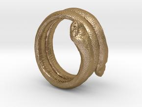 Snake Bracelet in Polished Gold Steel