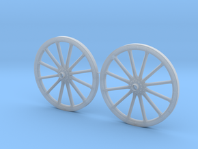 German Protze/Limber/Wagon Wheel set 54mm in Smooth Fine Detail Plastic