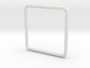 Anello Quadrato Dim Effettive in White Natural Versatile Plastic
