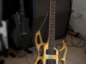 guitar body shell in White Natural Versatile Plastic
