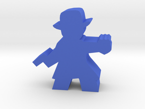 Game Piece, Detective With Badge in Blue Processed Versatile Plastic