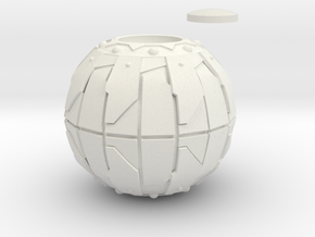 Pumpkin Bomb Actual 4 Inch Diameter in White Natural Versatile Plastic