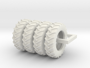 1/64 Scale 18.4R38 tires in White Natural Versatile Plastic