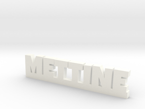 METTINE Lucky in White Processed Versatile Plastic