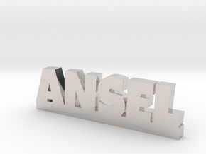 ANSEL Lucky in Rhodium Plated Brass