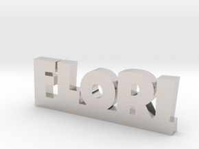 FLORI Lucky in Rhodium Plated Brass