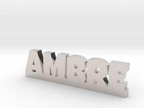 AMBRE Lucky in Rhodium Plated Brass