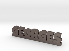 GEORGES Lucky in Polished Bronzed Silver Steel