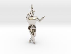 Pendant - Chango in Rhodium Plated Brass