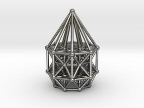 Tesseract Matrix Stargate in Polished Silver