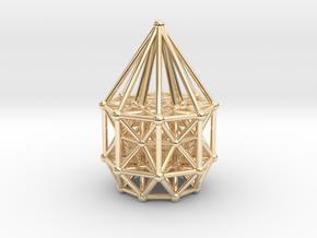 Tesseract Matrix Stargate in 14k Gold Plated Brass