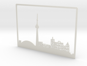 Toronto Skyline - 8 X 11.5 (L) in White Strong & Flexible